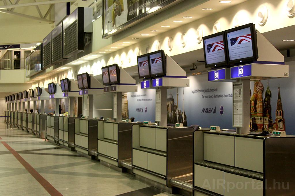 2012. február 8. 17:23 (lt) Budapest Liszt Ferenc Nemzetközi Repülőtér 2B terminál. (Fotó: AIRportal.hu) | © AIRportal.hu