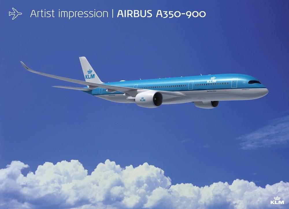Airbus A350-900XWB látványterv. (Forrás: KLM) | © AIRportal.hu