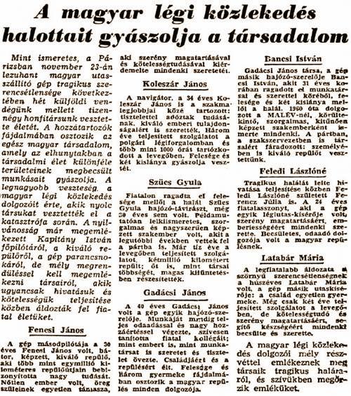 Gyászhír a sajtóban   © AIRportal.hu