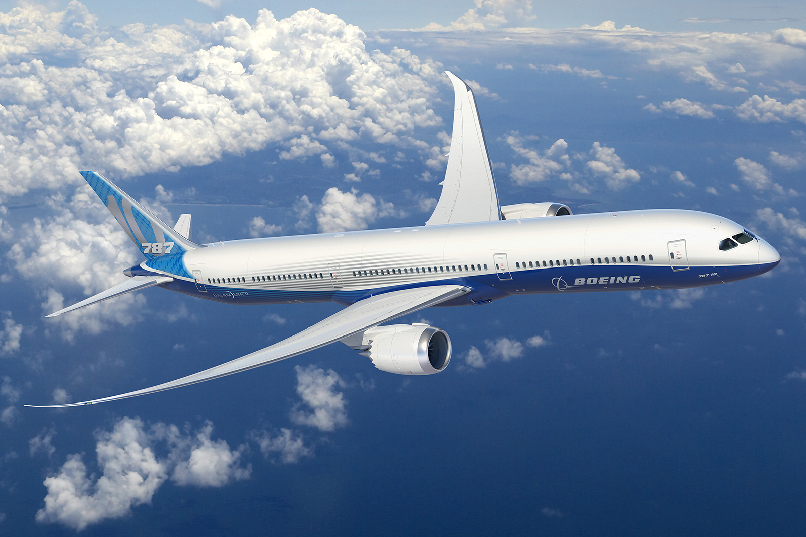 Boeing 787-10 számítógépes grafikán. (Forrás: Boeing Company) | © AIRportal.hu