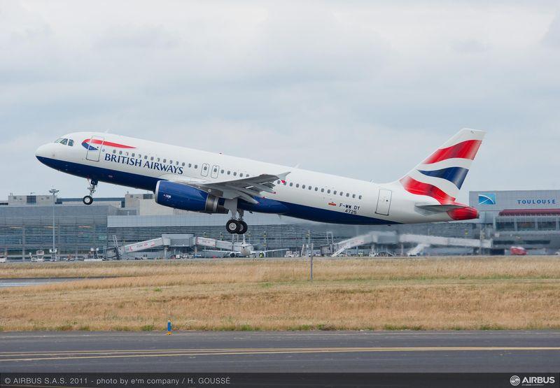 A British Airways 100. A320-as gépe. (Fotó: Airbus)   © AIRportal.hu
