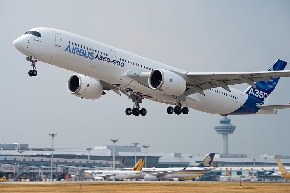 A légi szalon idei sztárja az Airbus A350-900XWB (Fotó: Airbus Company). | © AIRportal.hu