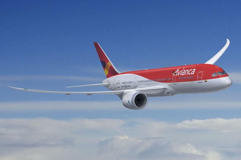 A 787 Dreamliner az Avianca színeiben számítógépes látványterven (Forrás: Boeing Company).   © AIRportal.hu