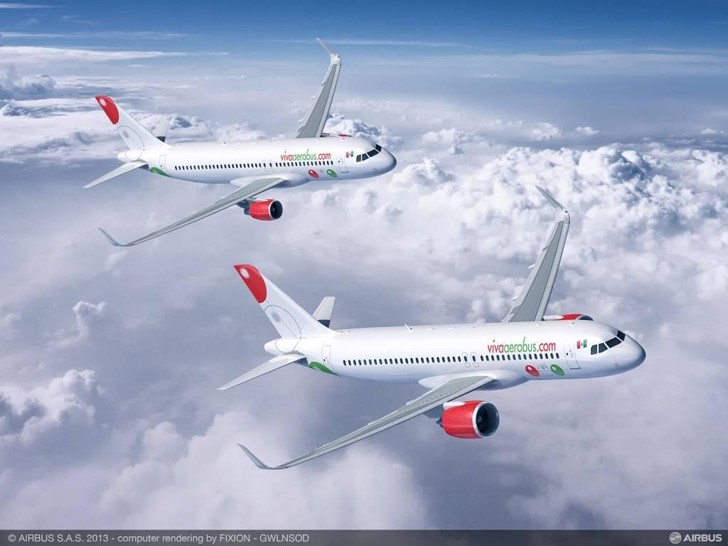 VivaAerobus A320ceo és neo látványterv. (Forrás: Airbus)   © AIRportal.hu