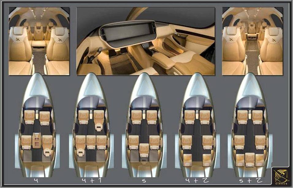 A Cirrus számos belső kialakítást kínál (Forrás: Cirrus Aircraft) | © AIRportal.hu