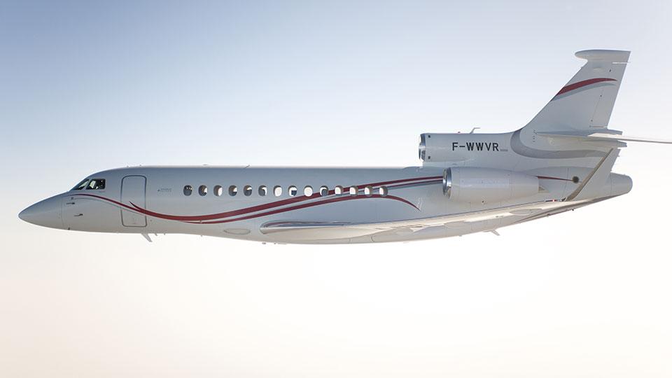 A Falcon 7X jelenleg a típuscsalád zászlóshajója. (Forrás: Dassault Aviation)   © AIRportal.hu
