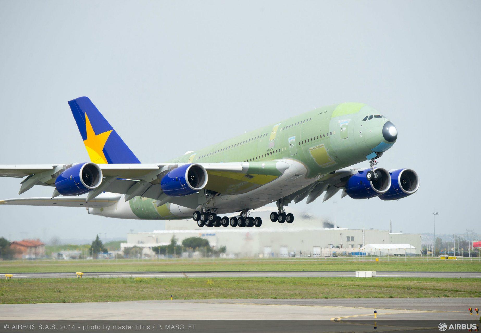 A Skymark első A380-asa. (Forrás: Airbus Group)   © AIRportal.hu