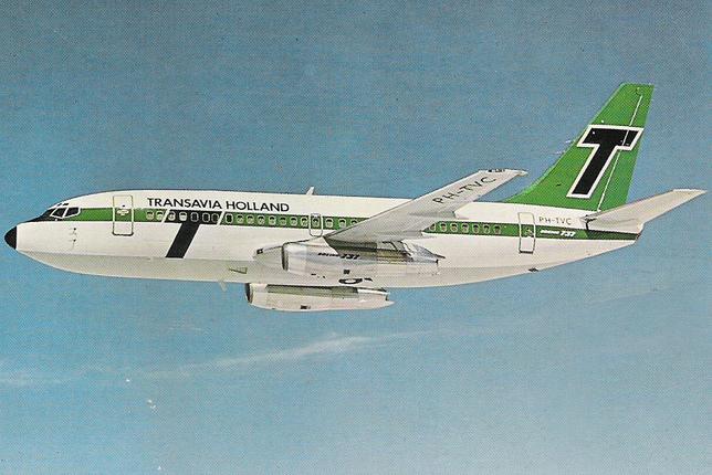 A holland légitársaság még képeslapot is adott ki a PH-TVC lajstromú Boeing gépről. (Forrás: Catawiki.nl) | © AIRportal.hu