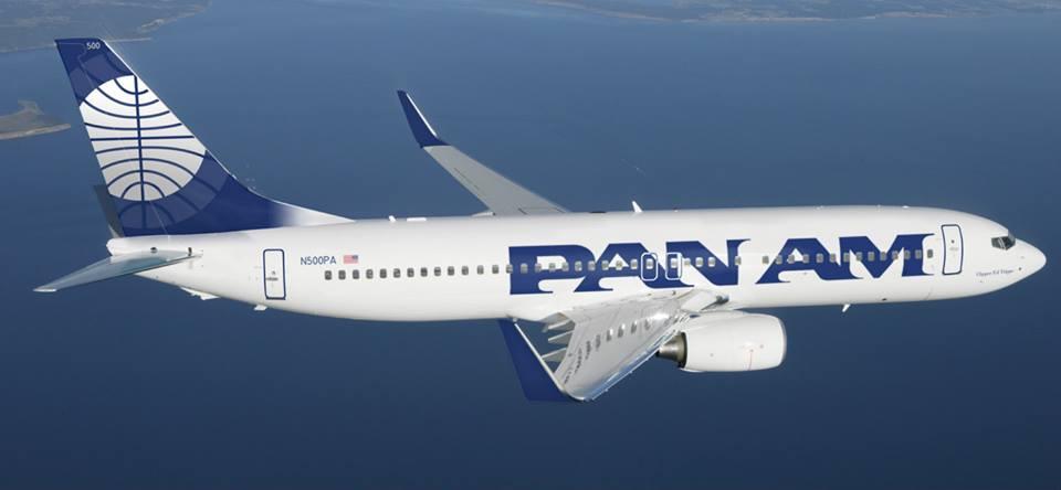 A látványtervet már hónapokkal ezelőtt közzétette a vállalkozás, így festett volna a feltámasztott Pan American Airways Boeing 737-800-asa. (Fotó: Pan American Airways Global USA - Facebook) | © AIRportal.hu
