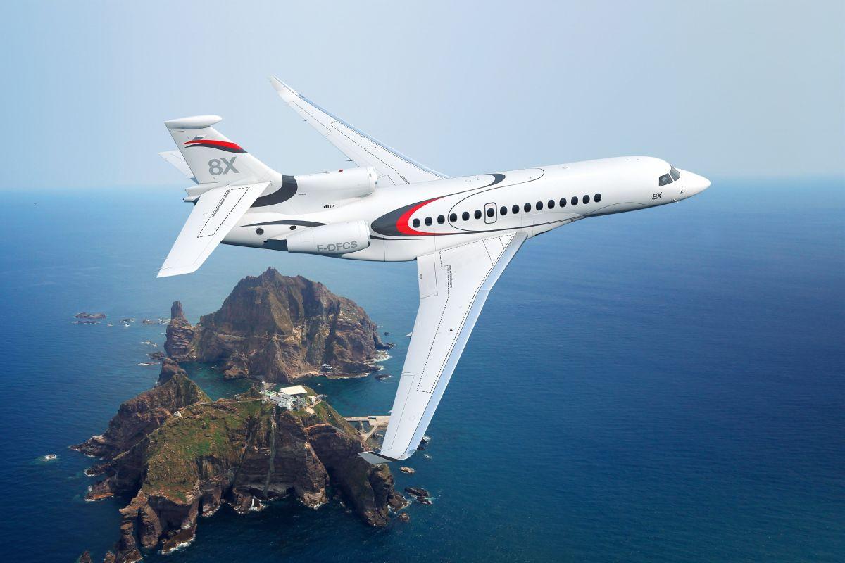 A gépcsalád egyik leggyönyörűbb tagja lett a Falcon 8X. (Forrás: Dassault Aviation) | © AIRportal.hu