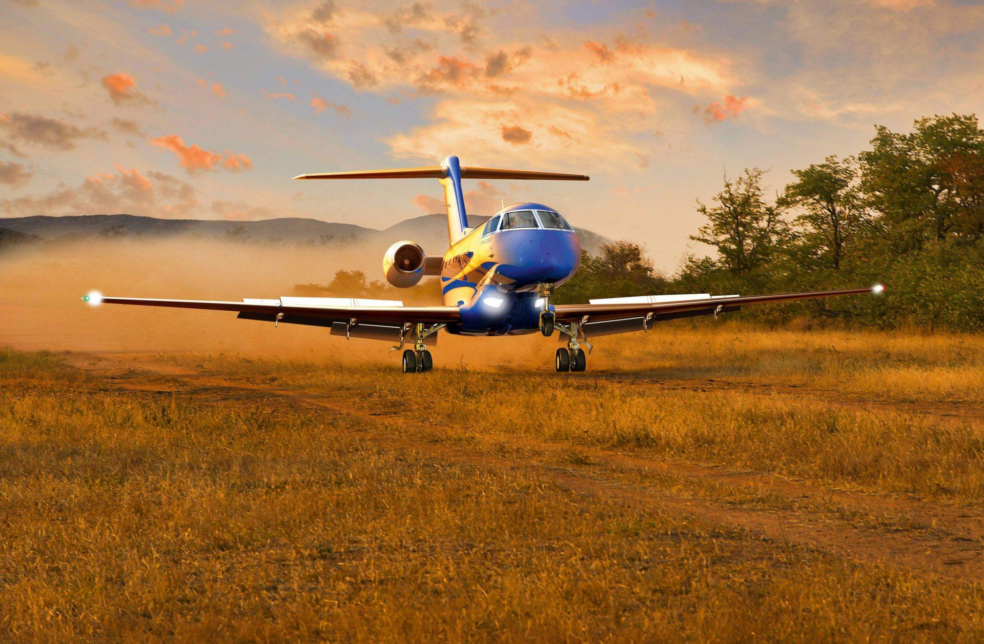 A PC-24-es burkolatlan futópályáról is üzemeltethető, nagy előny ez a többi business jettel szemben. (Forrás: Pilatus Aircraft)   © AIRportal.hu