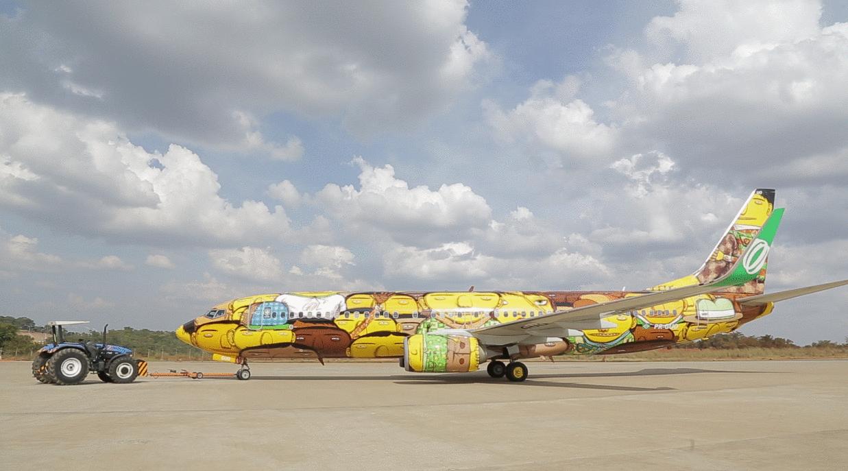 A gép megjelenése igazán egyedire sikerült. A művészek által használt festék két évig is bírja a természet pusztító erejét. (Forrás: GOL Linhas Aéreas) | © AIRportal.hu