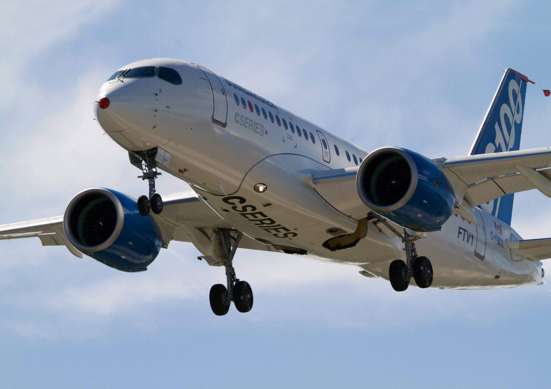 Az FTV1 jelű prototípus egy korábbi teszt közben. (Forrás: Bombardier)   © AIRportal.hu