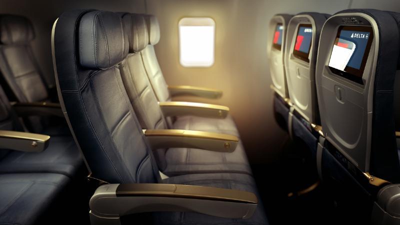 Részletfotó az Economy Comfort osztályról. (Forrás: Delta Air Lines) | © AIRportal.hu