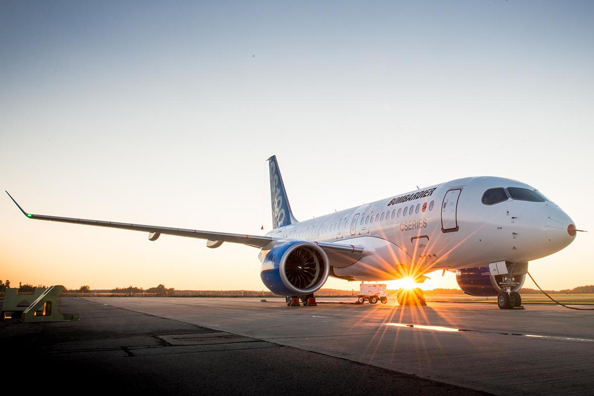 Az FTV-1-es tesztgép, mely már több mint 100 órát töltött a levegőben. (Fotó: Bombardier) | © AIRportal.hu