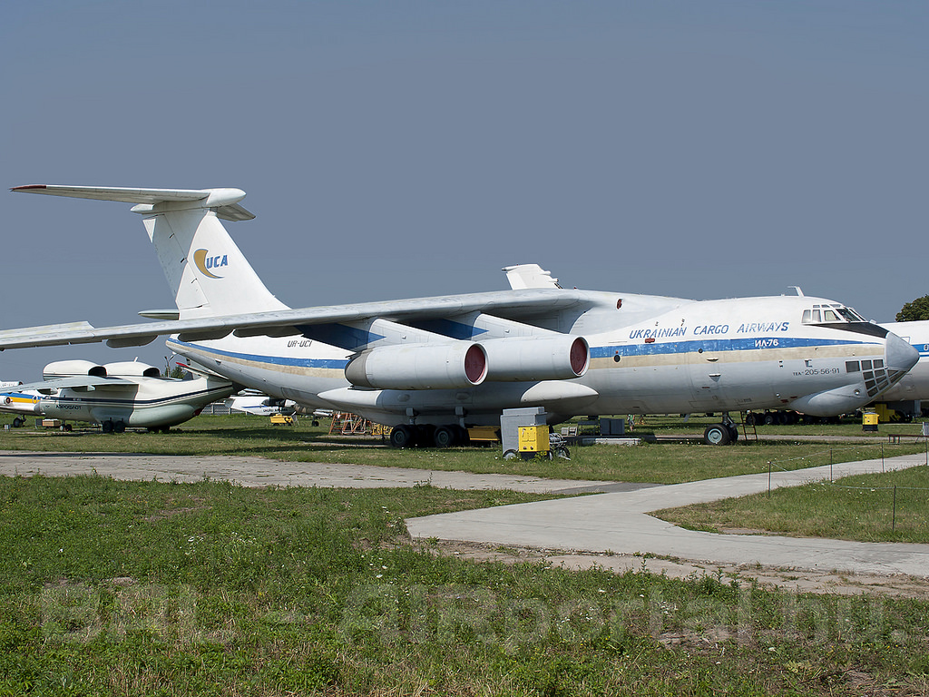 Egy ukrán Il-76-os a kijevi Zhulyany repülőtér melletti emlékparkban, képünk illusztráció. (Fotó: Mészáros Balázs - AIRportal.hu) | © AIRportal.hu