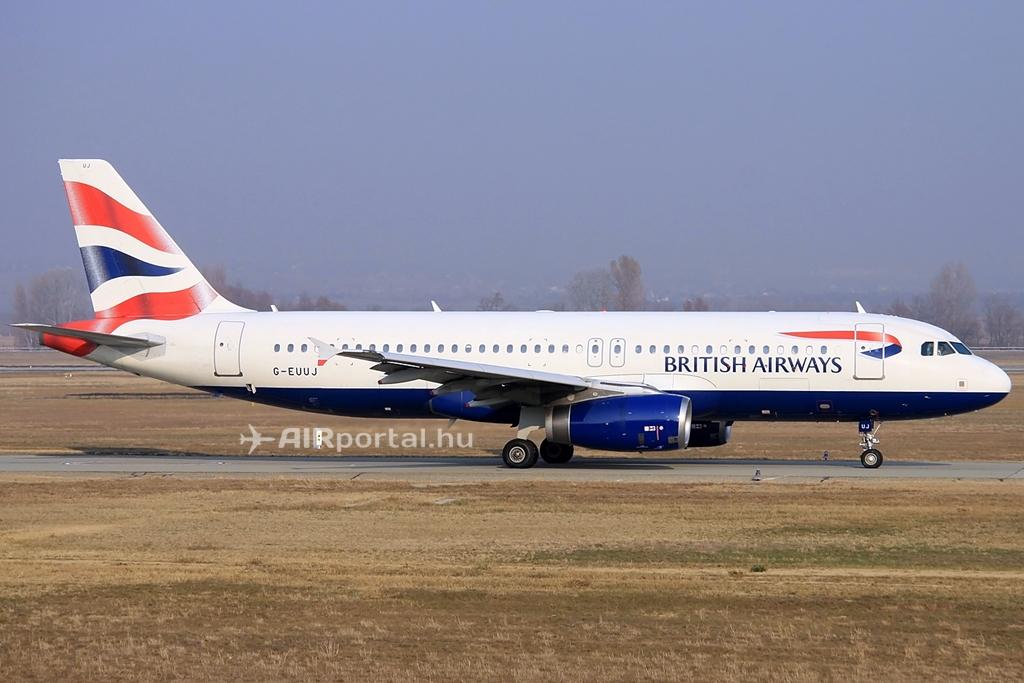 A British Airways egyik Airbus A320-as típusa Budapesten. (Fotó: Csemniczky Kristóf - AIRportal.hu) | © AIRportal.hu