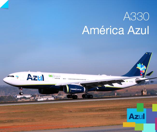 A brazil fuvarozó első szélestörzsű gépe, az América Azul. (Forrás: Azul-facebook) | © AIRportal.hu