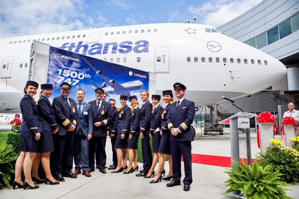 Az 1500. Boeing 747-es ünnepélyes átadása a Lufthansa számára 2014 júniusában. (Fotó: Boeing Company)   © AIRportal.hu