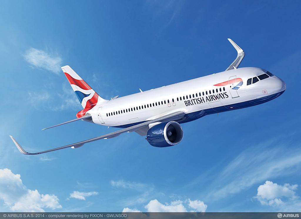 Az A320neo grafikája a British Airways festésével. (Forrás: Airbus) | © AIRportal.hu