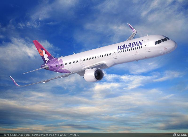 Hawaiian A321neo látványterv. (Forrás: Airbus)   © AIRportal.hu