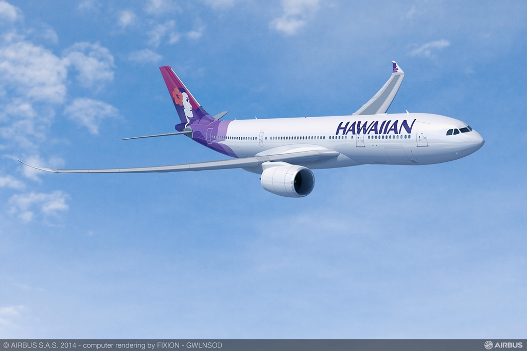 Hawaiian A330-800neo látványterv.(Forrás: Airbus)   © AIRportal.hu