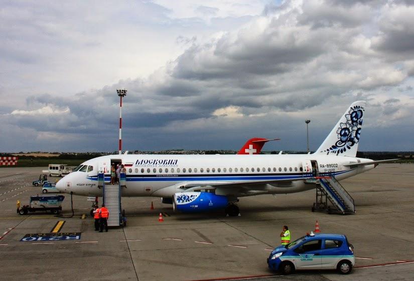 Az RA-89002 lajstromjelű Moskovia Airlines Szuhoj SSJ-100-95B Superjet Ferihegyen. A képre kattintva galéria nyílik! (Fotók: Budapest Airport)   © AIRportal.hu