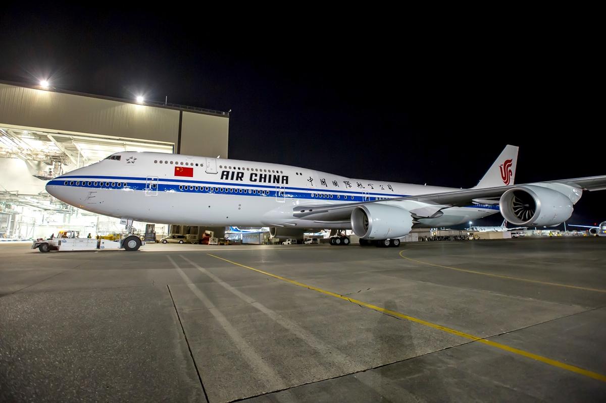 Az Air China leendő első 747-8-asa. (Fotó: Boeing Company)   © AIRportal.hu