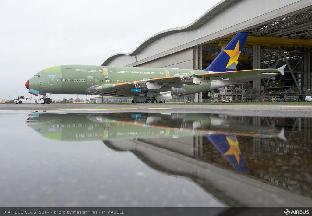 Szerkezetkész az első gép, 2014. február vége. (Fotó: Airbus)   © AIRportal.hu