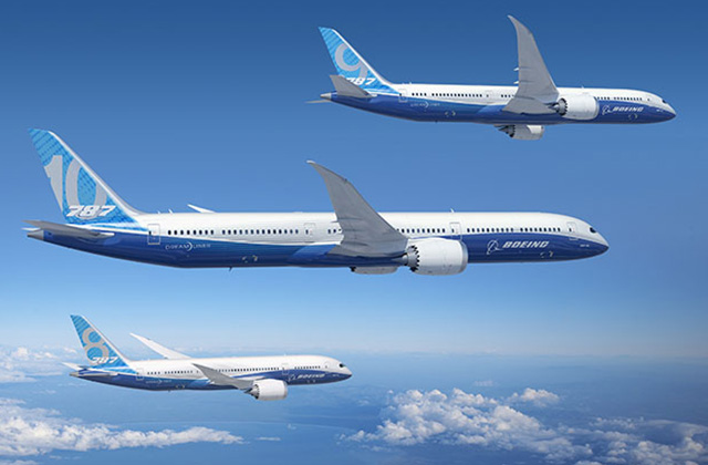 A 787-10-es katalógus szerint 323, a 9-es 280, a 8-as pedig 242 utast vehet fedélzetére. (Fotó: Boeing Company) | © AIRportal.hu