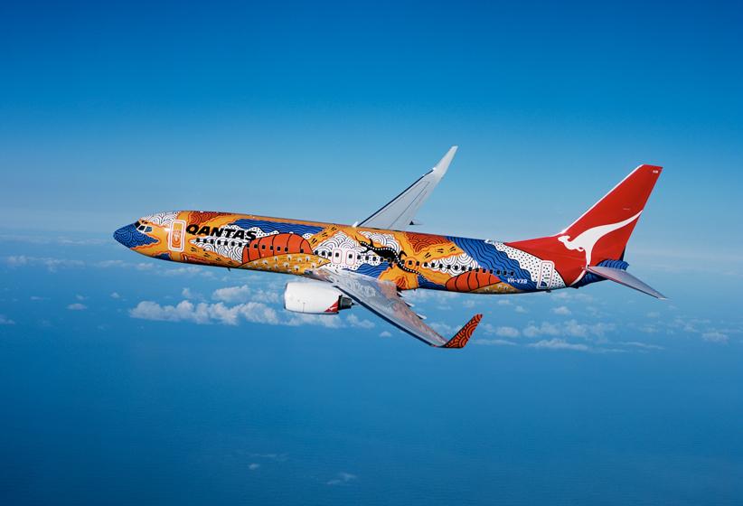 A Qantas néhány gépe igen látványos festéssel büszkélkedhet. (Forrás: Qantas) | © AIRportal.hu