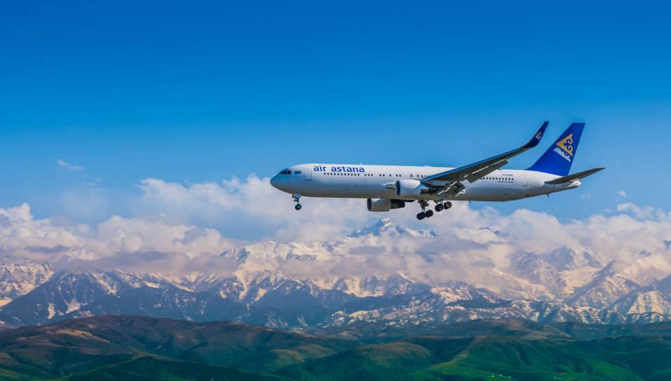 A harmadik Boeing 767-300ER érkezése Almatiba. (Fotó: Air Astana) | © AIRportal.hu