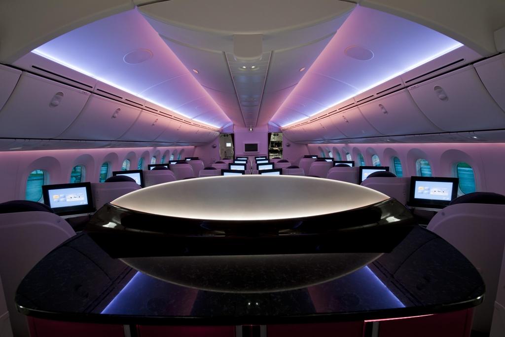 A katari Dreamliner business osztályú fedélzete. (Fotó: Qatar Airways)   © AIRportal.hu