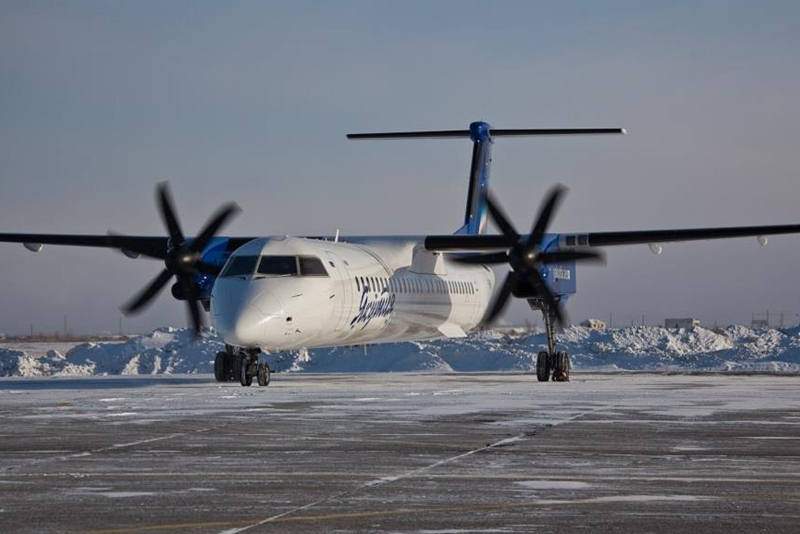 A Q400-as a Yakutia Airlines igáslova, a mostoha Szibéria nem akadály neki. (Fotó: Yakutia Airlines)   © AIRportal.hu