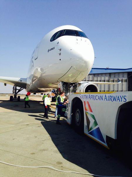 A350-es most, az útvonalpróba keretében járt először Johannesburgban. (Fotó: Airbus)   © AIRportal.hu
