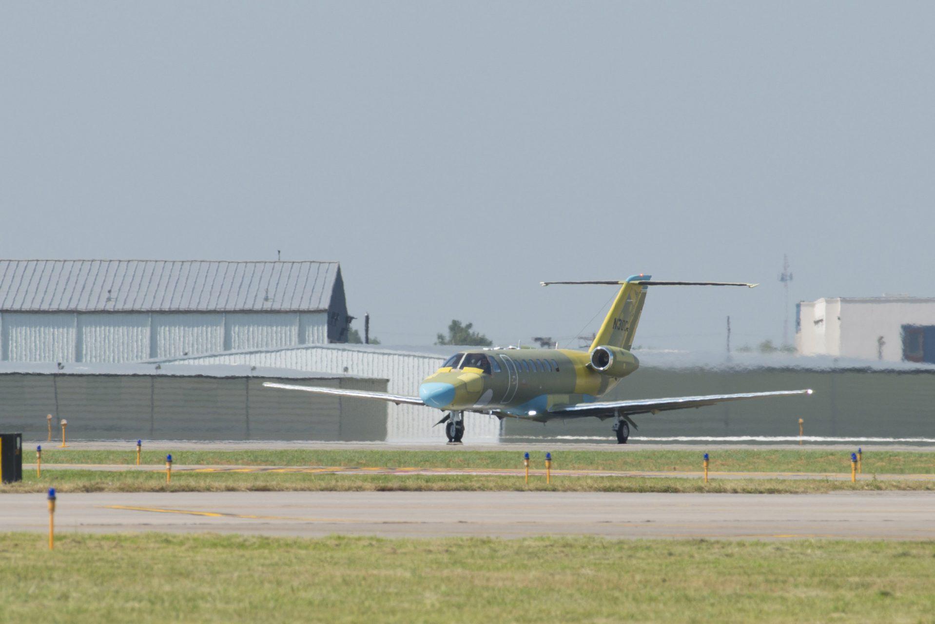 A CJ3+ festetlenül rótta a próbaköreit. (Fotó: Cessna)   © AIRportal.hu