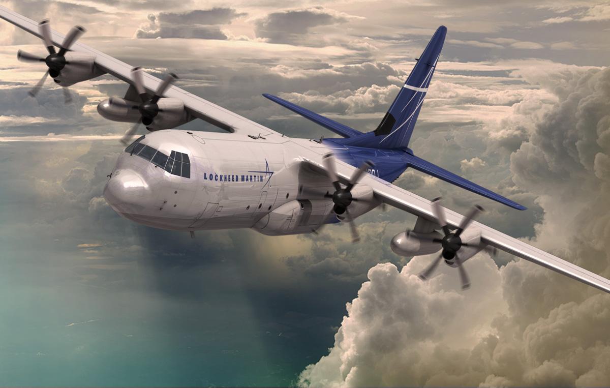 Az LM-100J egy másik látványterven. (Forrás: Lockheed Martin)   © AIRportal.hu