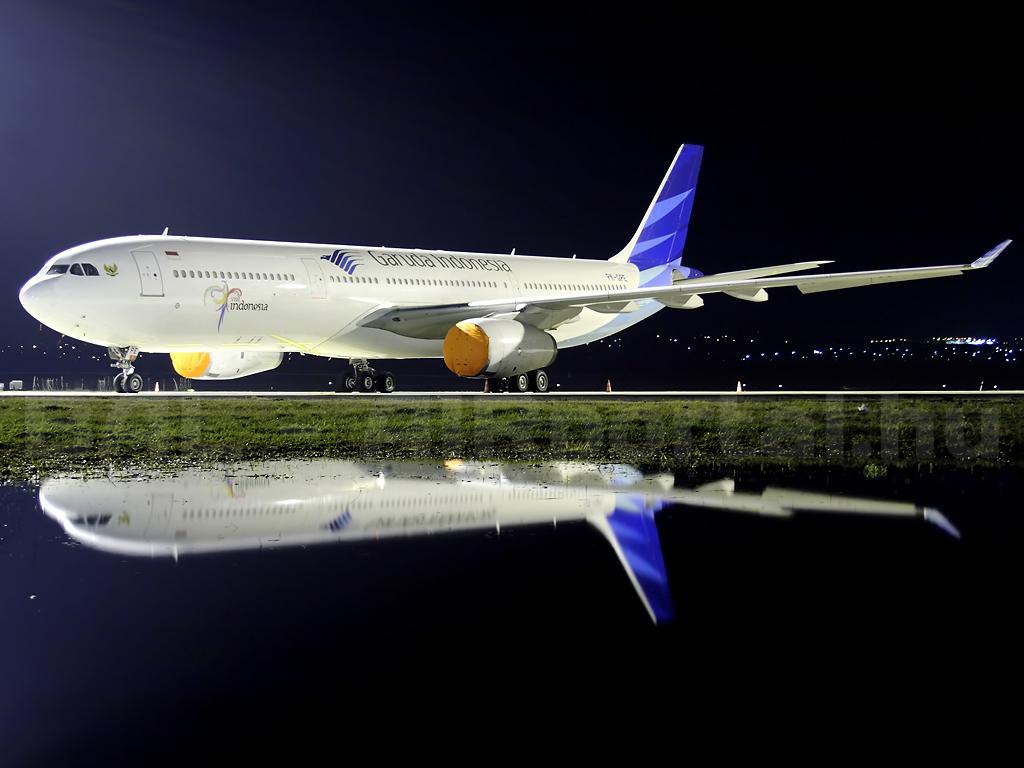 A Garuda egyik szélestörzsűje az Airbus A330-as. (Fotó: Mészáros Balázs - AIRportal.hu) | © AIRportal.hu