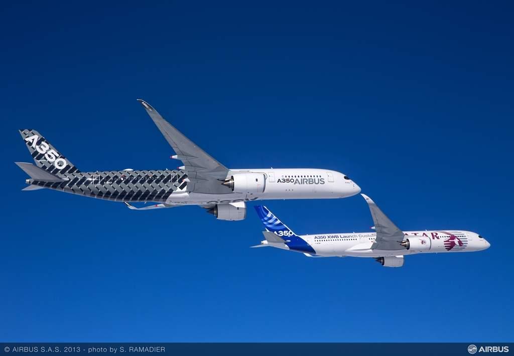 A legelső A350XWB üzemeltető a Qatar Airways lesz, amely várhatóan még az idén átveszi első gépét. A katari légitársaság azonban hivatalosan még nem ismertette a típus kabinkonfigurációját. (Fotó: Airbus) | © AIRportal.hu