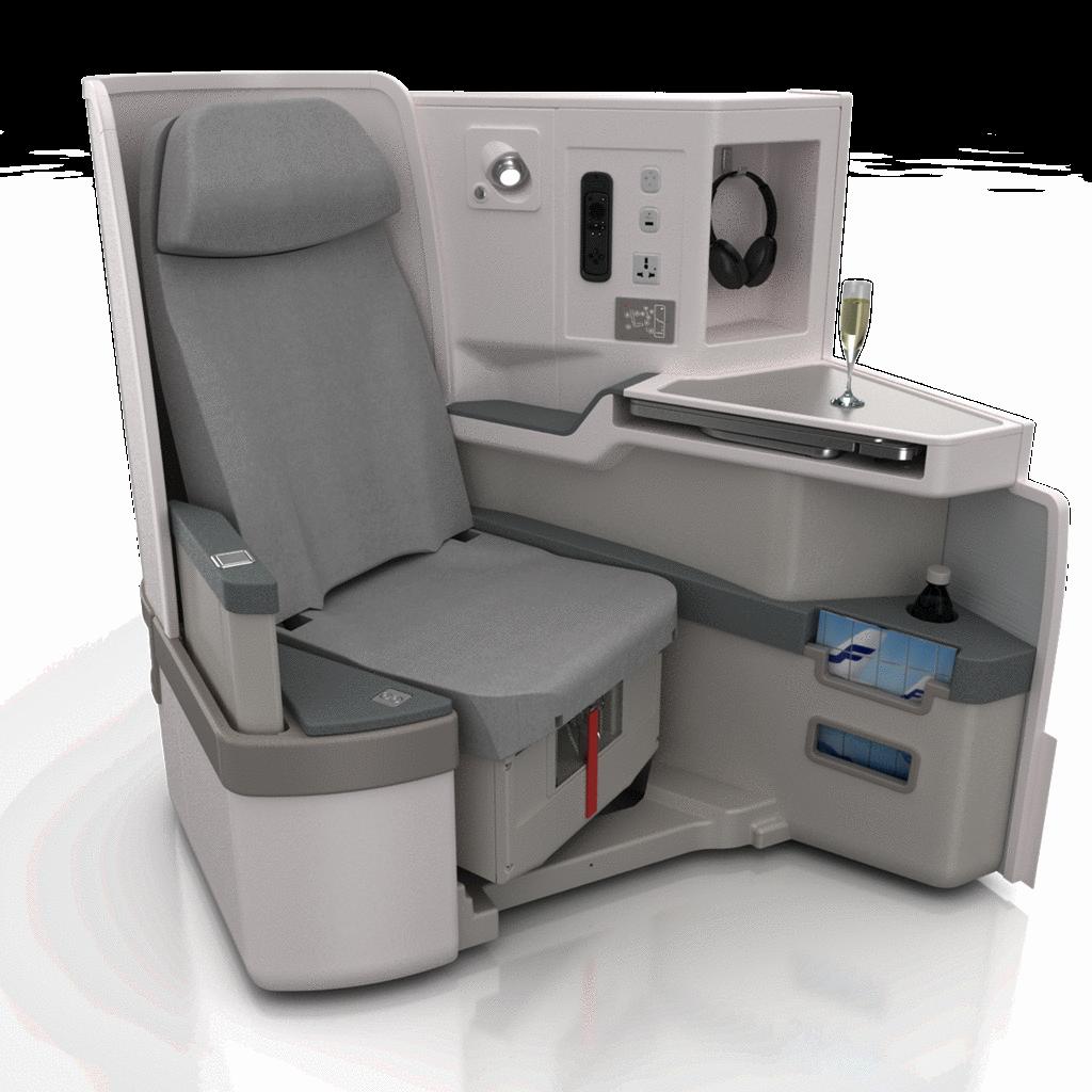 A business ülés közelebbről. (Fotó: Finnair) | © AIRportal.hu