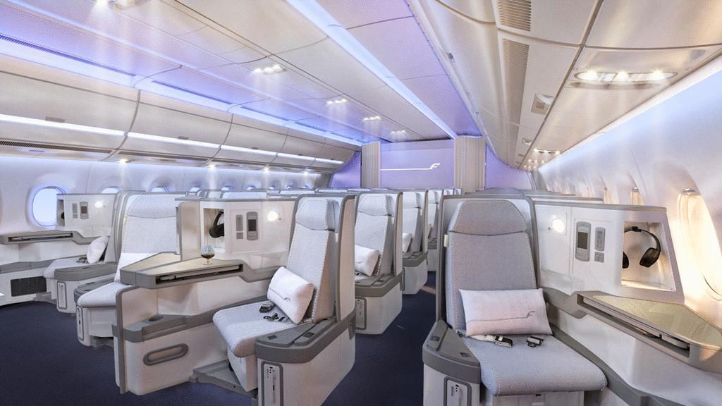 Finnair A350-900XWB business osztálya. (Forrás: Finnair) | © AIRportal.hu