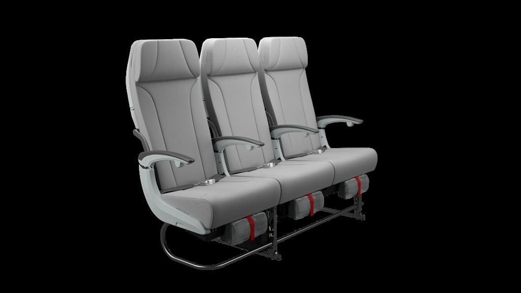 Az A350-esekre szánt Zodiac gyártmányú turista ülések. (Fotó: Finnair) | © AIRportal.hu