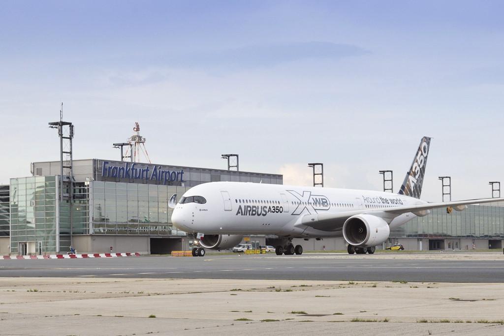 Az A350-es Frankfurtban. (Fotó: Airbus) | © AIRportal.hu