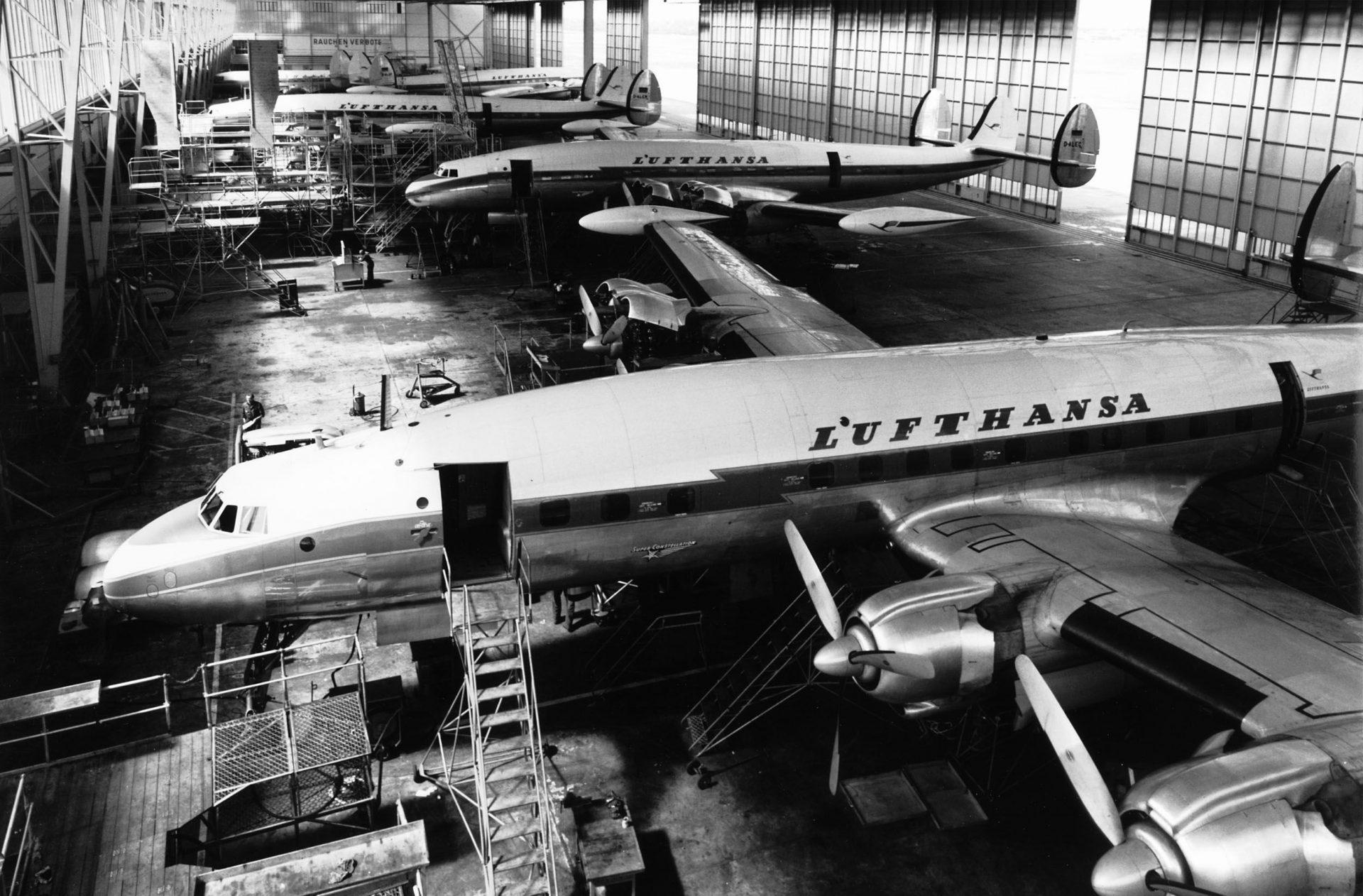 A Lufthansa Super Star-flotta tagjai karbantartás alatt. (Forrás: Lufthansa Technik AG) | © AIRportal.hu