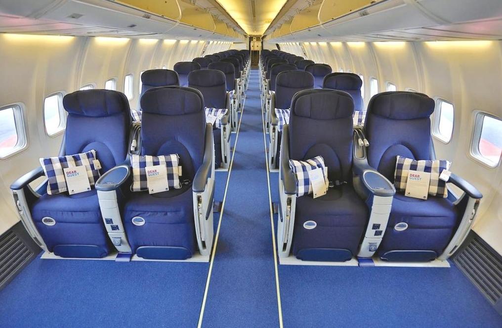 A 2-2-es elrendezésű business kabin. (Fotó: SAS)   © AIRportal.hu