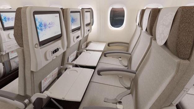 ...és végül a turista osztály. (Forrás: China Eastern Airlines)   © AIRportal.hu
