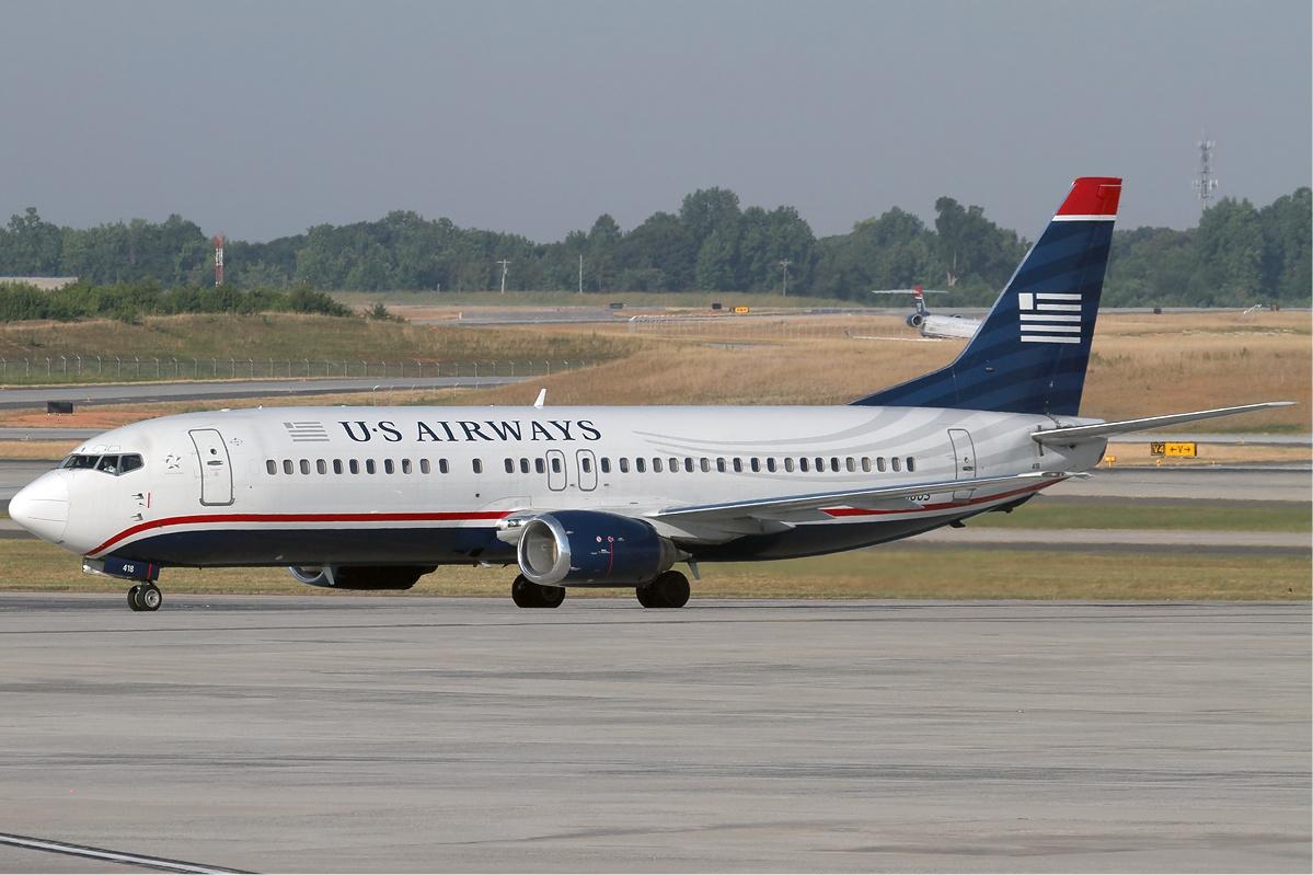 A US Airways egyik 737-400-asa. (Forrás: Wikimedia Commons) | © AIRportal.hu