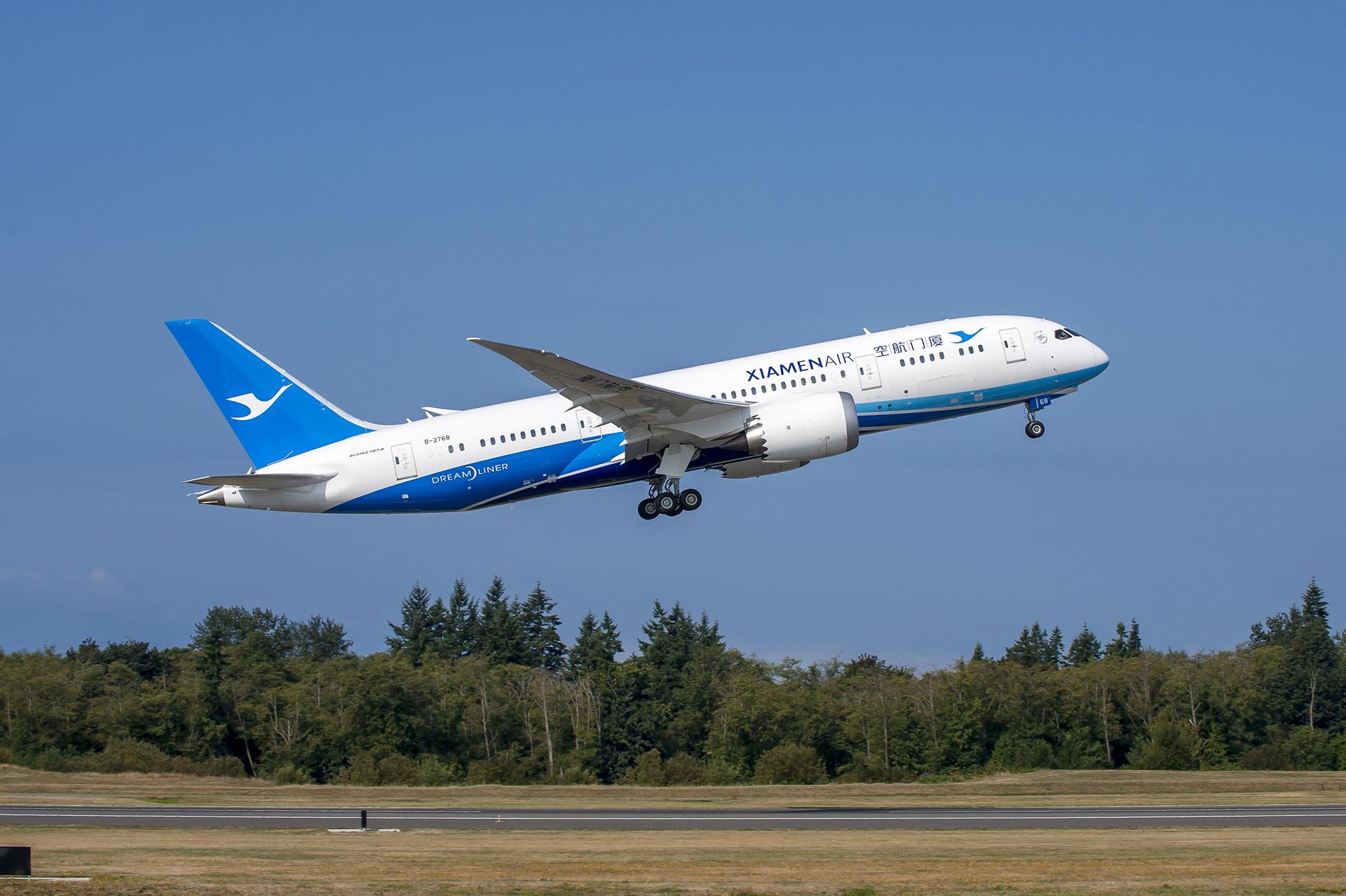 A Xiamen első Dreamlinere elindul Kínába. (Fotó: Boeing Company) | © AIRportal.hu