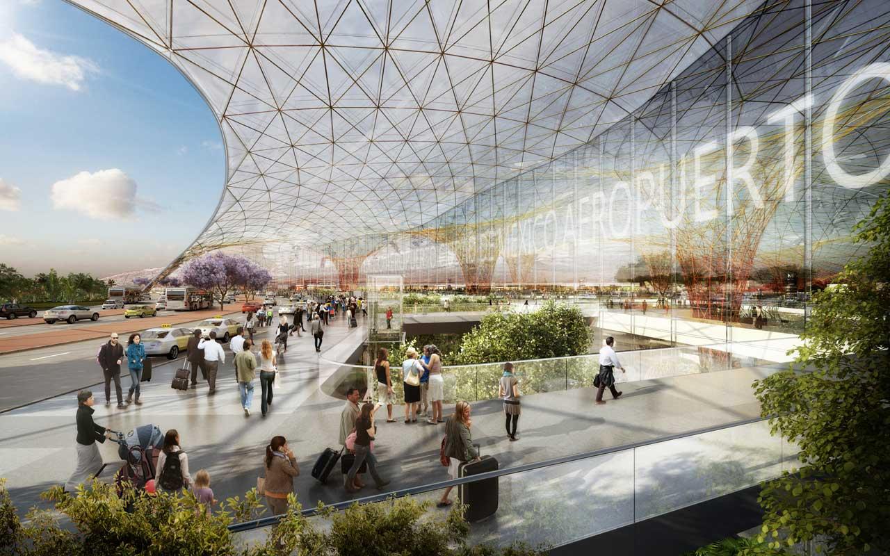 Várhatóan 2018-tól már élvezhetik az utasok az új megarepülőteret. (Forrás: Foster + Partners)   © AIRportal.hu