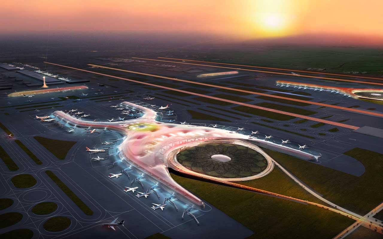 Mexikó elnevezésére utal az X-alakú terminál.(Forrás: Foster + Partners)   © AIRportal.hu